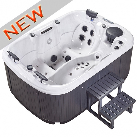 Mini hot tub with lounger